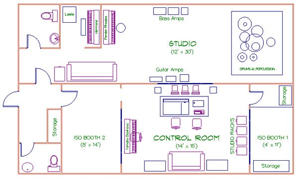Recording Studio Floor Plans House Plans